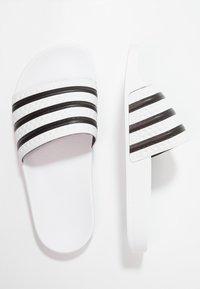 adidas Originals - ADILETTE - Sandály do bazénu - white/black - 1
