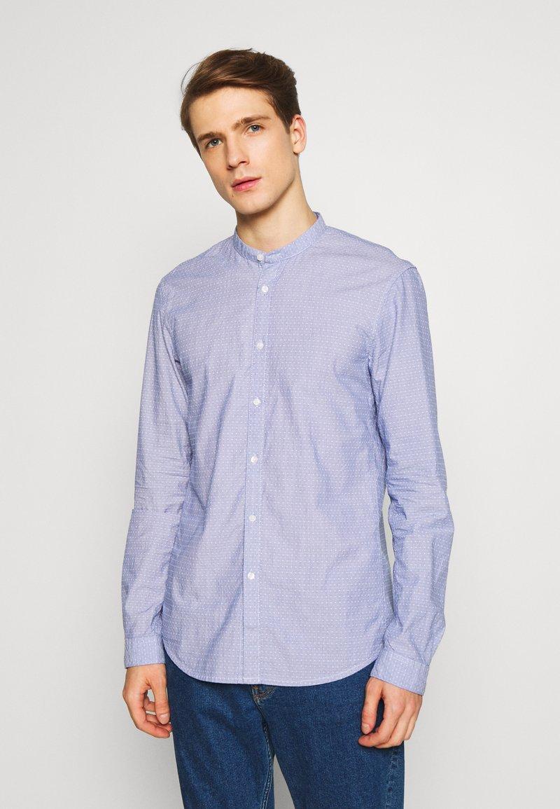 TOM TAILOR DENIM - DOBBY CLIPPER - Košile - blue/white