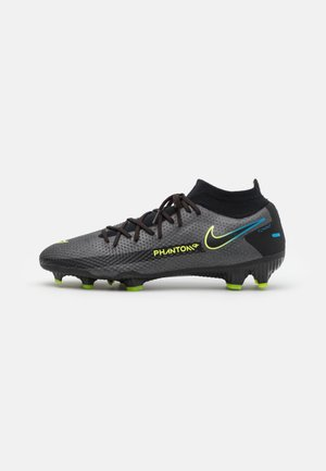 PHANTOM GT PRO DF FG - Moulded stud football boots - black/cyber/light photo blue