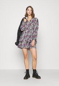 Vero Moda - VMANEMONE V-NECK DRESS - Day dress - black - 1