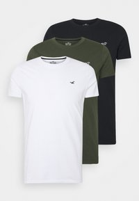 Hollister Co. - 3-PACK - T-shirt basique - white/olive/black - 0