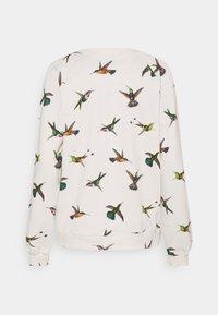 Dedicated - YSTAD RAGLAN HUMMINGBIRDS - Felpa - off-white - 1