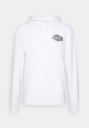 NBA LOS ANGELES LAKERS NEW ERA METALLIC HOODY - Felpa con cappuccio - white