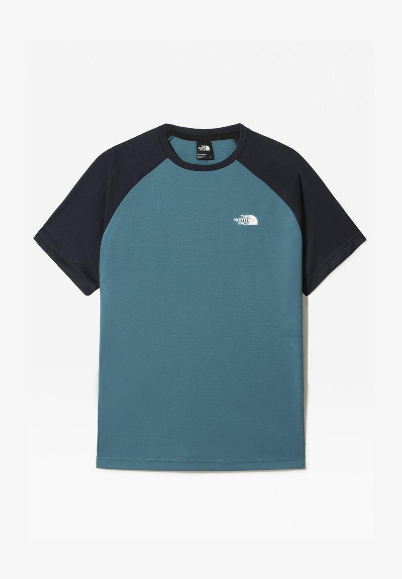 The North Face - M TANKEN RAGLAN TEE - EU - T-shirt con stampa - mallard blue/urban navy