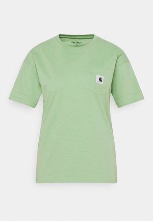 POCKET - Print T-shirt - mineral green