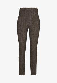 COUNTRY HERINGBONE PANTS - Trousers - brown