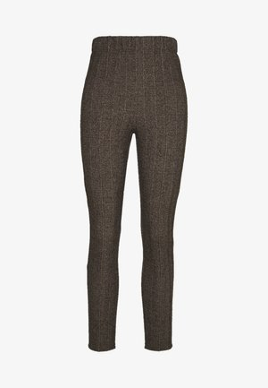 COUNTRY HERINGBONE PANTS - Pantaloni - brown