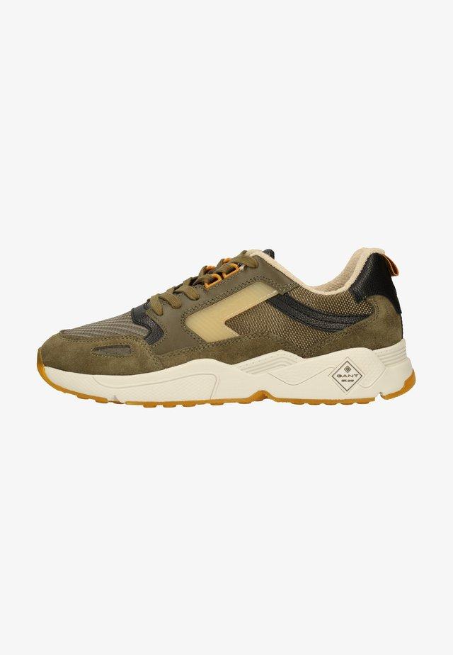 Sneakers laag - dark olive