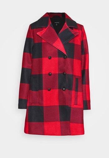 CLASSIC PEACOAT - Classic coat - red