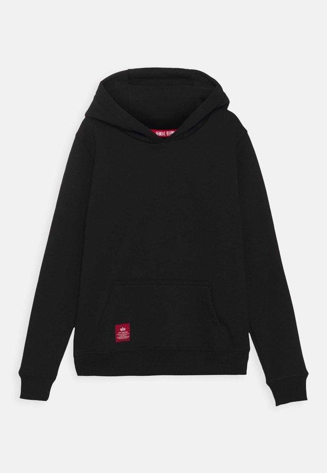 BACK PRINT HOODY RAINBOW REFLECTIVE KIDS TEENS - Sweatshirt - black