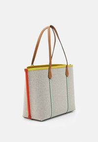 Tory Burch - PERRY TRIPLE COMPARTMENT TOTE - Velká kabelka - natural/tory navy - 3