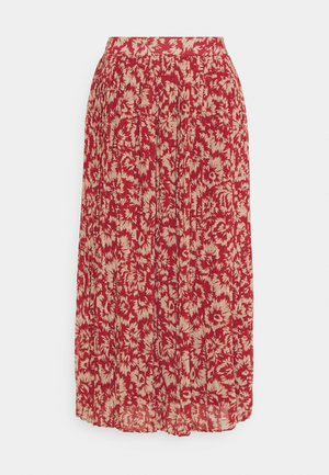 VIMAGIS MIDI SKIRT - A-Linien-Rock - red dahlia