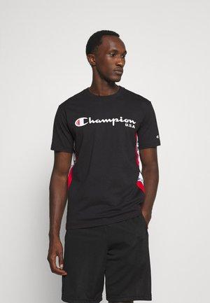 OFF COURT CREWNECK - T-shirt med print - black/white