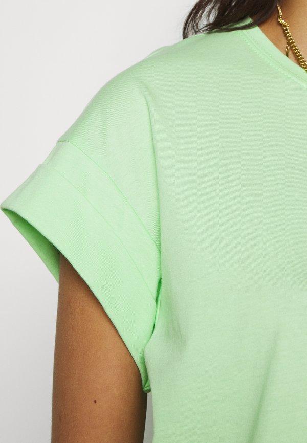 Moss Copenhagen ALVA PLAIN TEE - T-shirt basic - pistachio green Kolor jednolity Odzież Damska SBPV IX 8