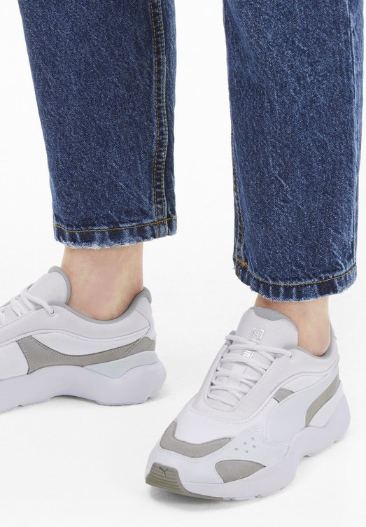 LIA TONAL - Sneaker low - white-gray violet