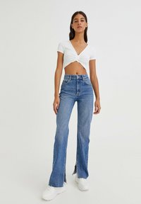 PULL&BEAR - Straight leg jeans - dark-blue denim - 1