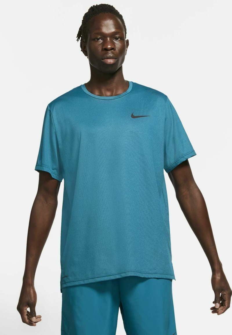 Nike Performance - DRY  - T-shirt basique - obsidian/green abyss/heather/black