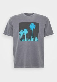 WASH TEE - Print T-shirt - black obsidian