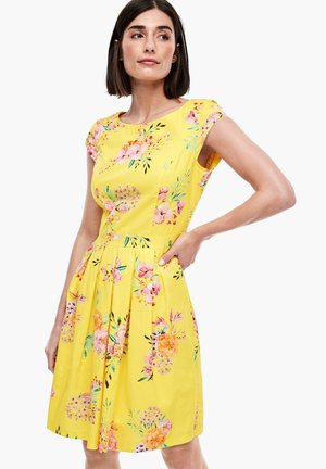AUSGESTELLTES BAUMWOLLKLEID - Day dress - yellow