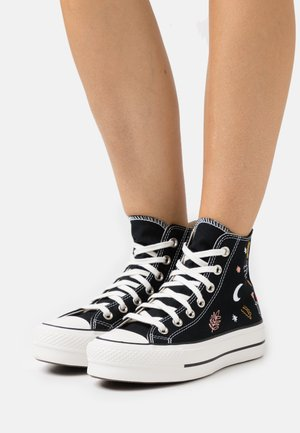 CHUCK TAYLOR ALL STAR LIFT - Baskets montantes - black/vintage white/multicolor