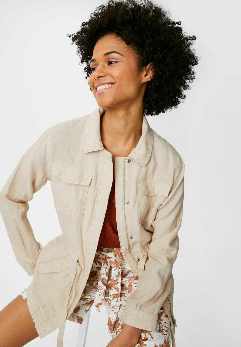 C&A - Leinen - Summer jacket - taupe