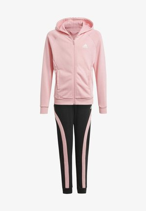 G HOODED CO TS TRACKSUITS TRAINING WORKOUT TRACKSUIT - Survêtement - pink