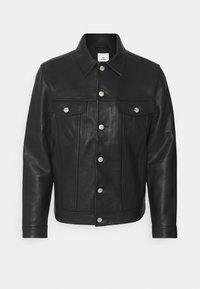 VINNY - Leather jacket - black