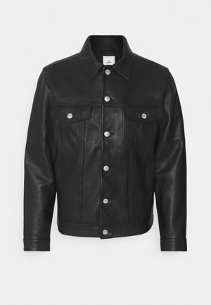 VINNY - Leather jacket - black