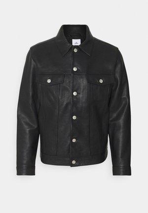 VINNY - Kožená bunda - black