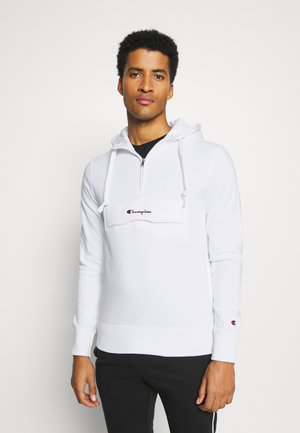 HALF ZIP HOODED - Sweat à capuche - white