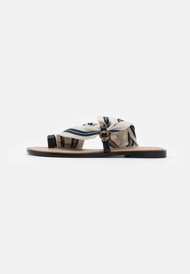 SELBY SCARF  - Sandály s odděleným palcem - perfect navy