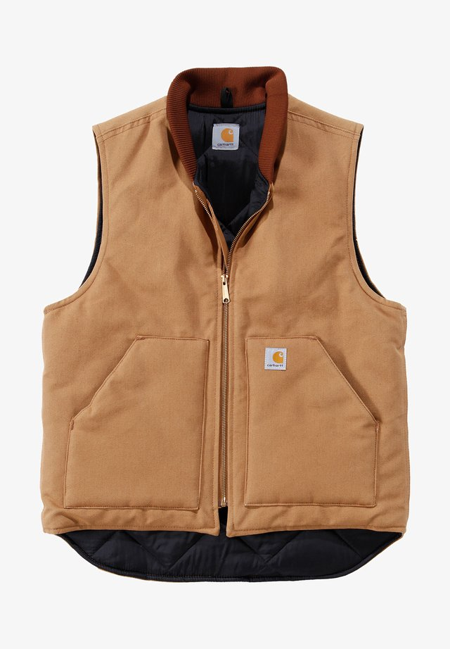 BEKLEIDUNG DUCK ARCTIC QUILT LINED - Waistcoat - carhartt brown