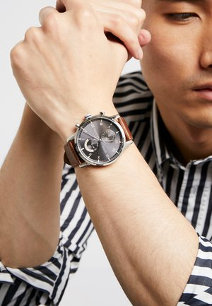 Chronograph watch - brown/silver