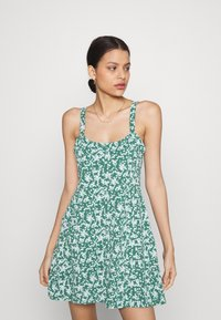 Cotton On - TURNER STRAPPY MINI DRESS - Jerseyjurk - heritage green - 0