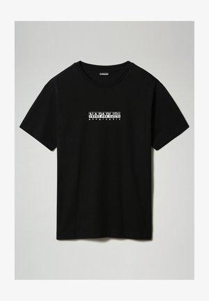 S-BOX   - Print T-shirt - black