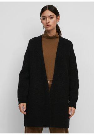 AUS SCHURWOLLE-ALPAKAWOLLE-MIX - Vest - black