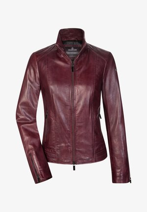 Leather jacket - dunkelrot