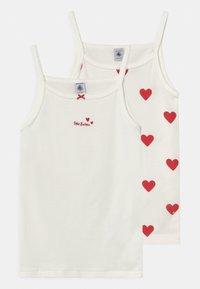 Petit Bateau - HEART 2 PACK - Undershirt - white/red - 0