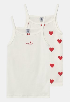 HEART 2 PACK - Undershirt - white/red