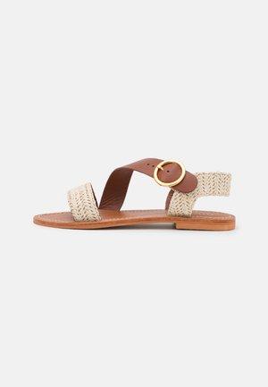 WASTON - Sandales - beige/marron