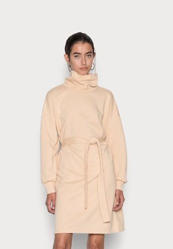 ONLSWEET HIGHNECK DRESS - Day dress - beige