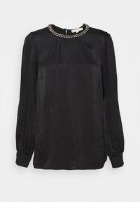 CHAIN NECK - Blouse - black