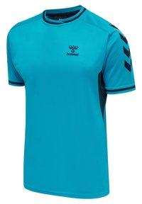 Hummel - T-shirt med print - atomic blue  black iris - 2