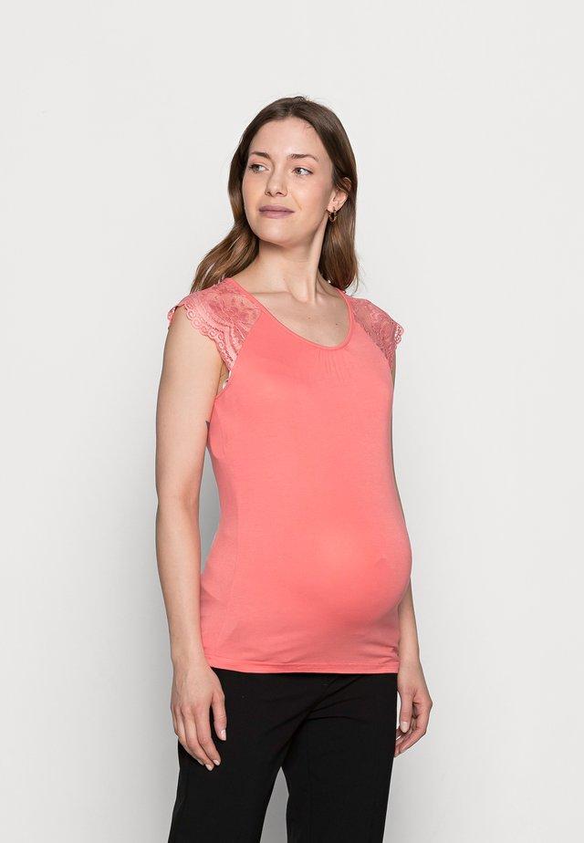 MLPAULINE CAP - T-shirt print - georgia peach