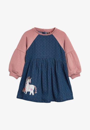 Denim dress - pink