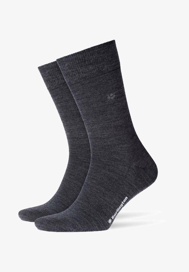 Socks - asphalt mel. (3180)