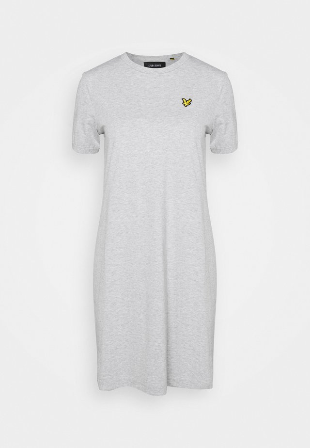 DRESS - Jersey dress - light grey marl