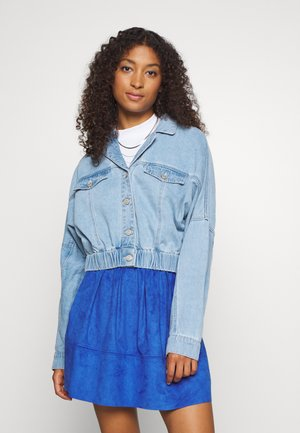 NMSILLA BOXY  - Denim jacket - medium blue denim