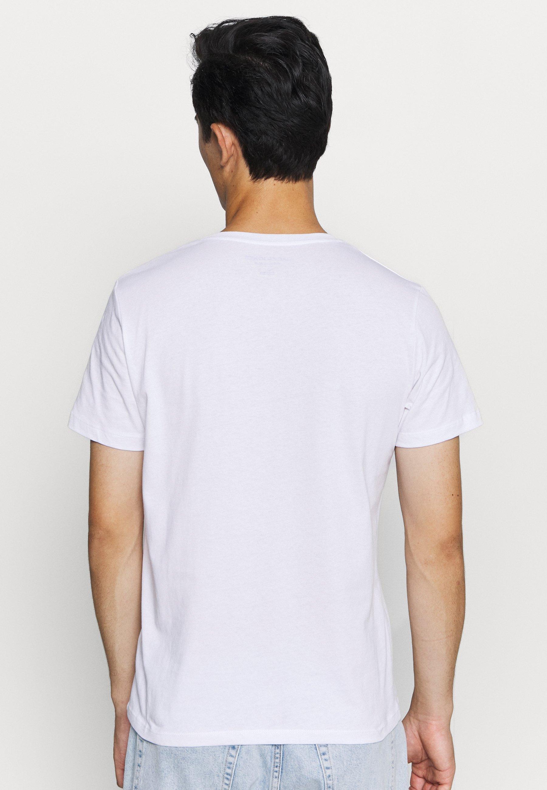 Jack & Jones JOREXPLORING TEE CREW NECK - Print T-shirt - white 7OHJe