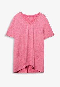 Esprit Sports - CURVY MELANGE - Basic T-shirt - pink fuchsia - 3